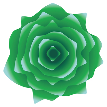 Gritty realistic green rose icon material