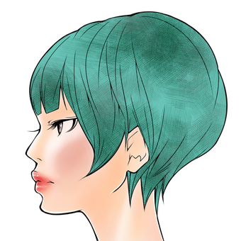 Short hair woman