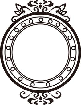 Decoration round frame