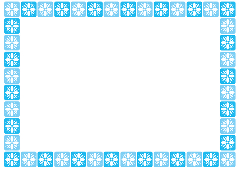 Frame-flower tile-blue