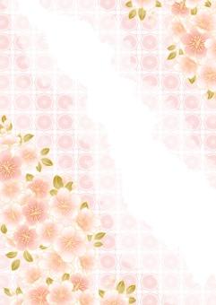 桜和柄背景イラスト