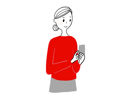 Woman looking at a smartphone