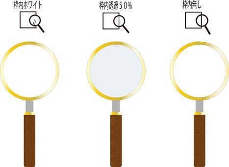 Retro magnifying glass