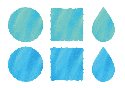 Hand written style watercolor water drops