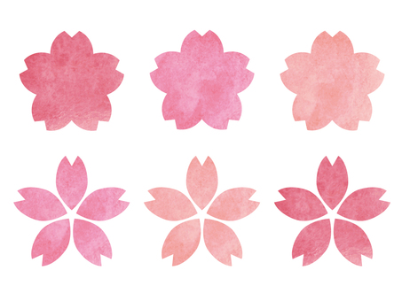 Cherry blossoms in watercolor style