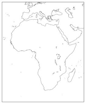 Africa Region-Blank Map-No Borders