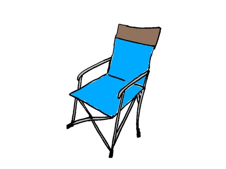 Outdoor chair blue