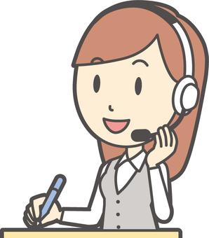 Call center female -269 - bust