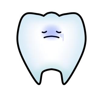 건강에 해로운 치아 캐릭터 (윤곽선 있음)