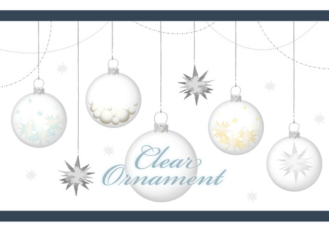 Transparent ornaments