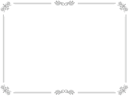 Gray luxurious frame