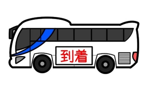 Tourist bus arrival