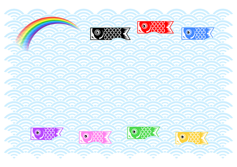 Koinobori background message card
