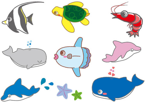 Cute sea creatures 01