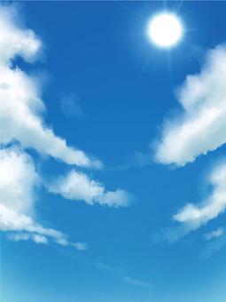 Blue sky background frame Vertical length