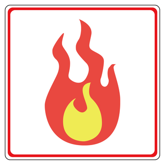 Burnable garbage icon