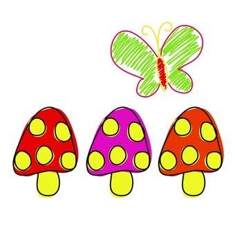 버섯과 나비