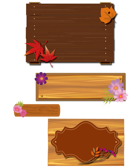 wood Frame Fall Label