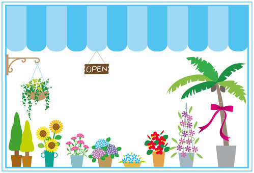 Decorative frame - flower shop / summer
