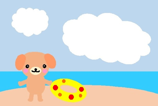 Doggy in summer