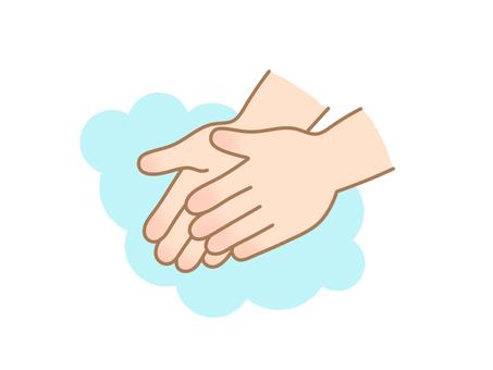 Hand washing palm (small)