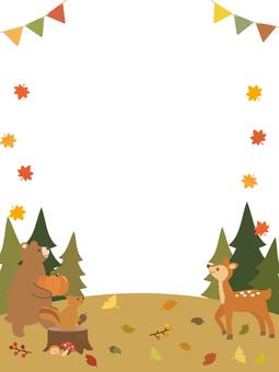 Autumn animal frame 2
