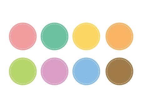 Pastel color round frame