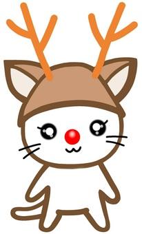 Reindeer turns into Christmas