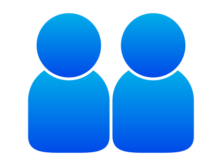 People icon (2 people) blue gradation