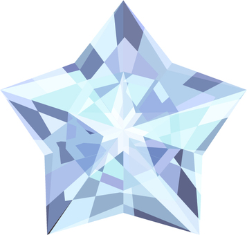 Stars diamonds - light blue