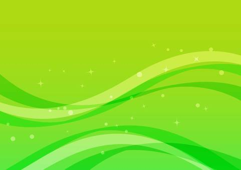 Illustration of a wave background (green)