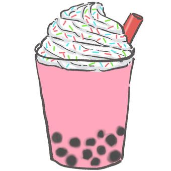 Tapioca drink strawberry