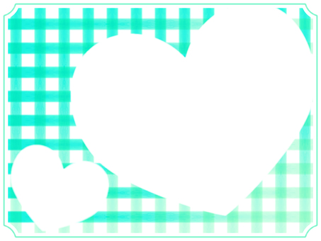 Check and heart frame 3 green