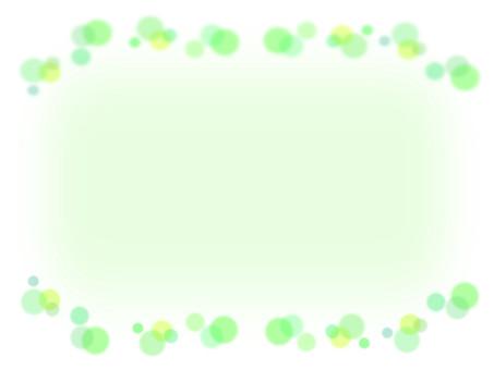 Polka dot pattern green frame material