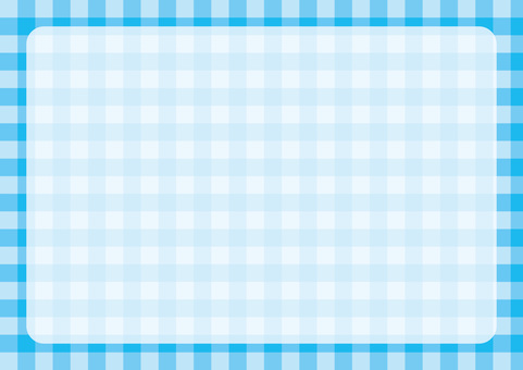 Gingham check frame light blue