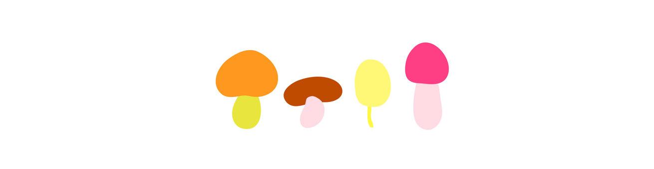 Illustration material Mushrooms