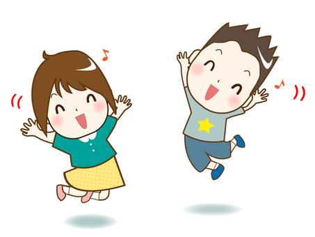 Jumping children