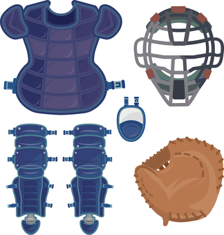 Complete set of equipment for catchers