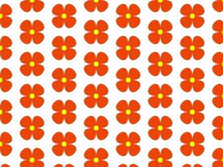 赤い花 パターン