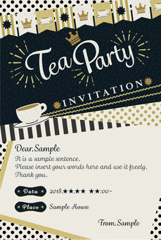Tea ceremony invitations [postcard size] classical