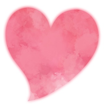 Watercolor style soft heart 1