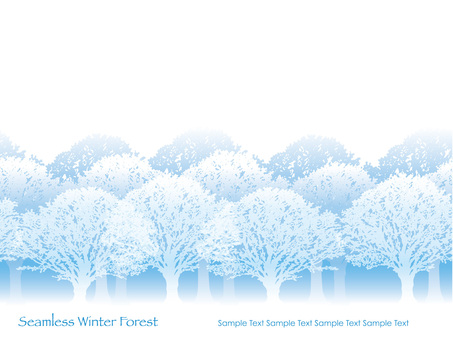 Seamless Four Seasons Forest 1 Winter