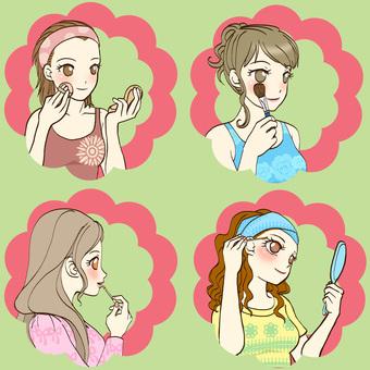 Makeup icon (4 types)
