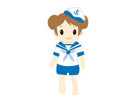 A girl in a sailor