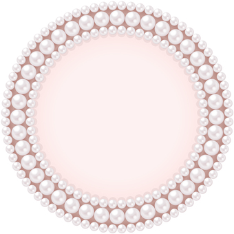 Circular frame H of pearl (red type)