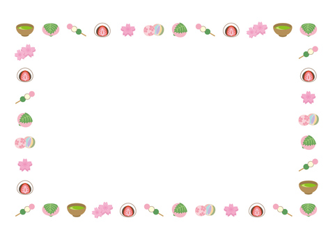 Spring Japanese confectionery frame