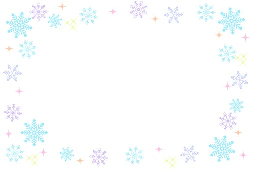 Snow frame light blue