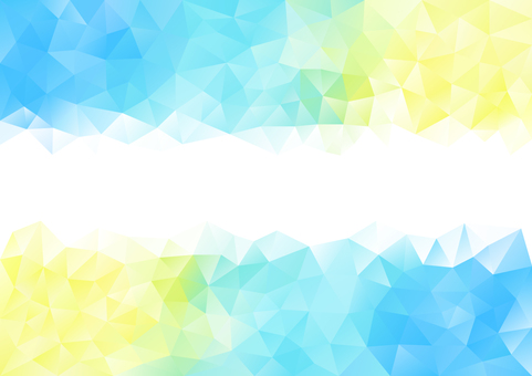 Blue and yellow polygon background