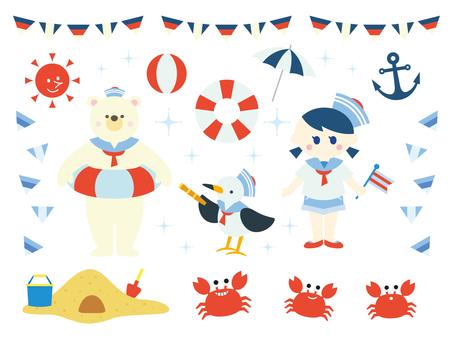 Sea illustration collection (7)