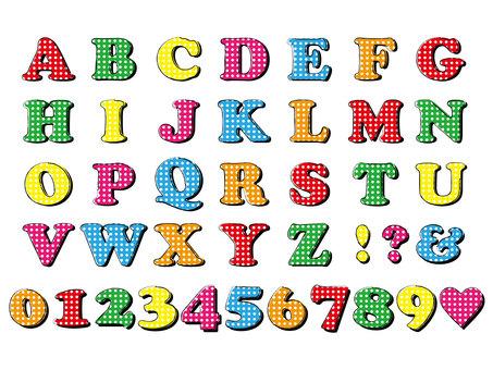 Polka dots alphabet set